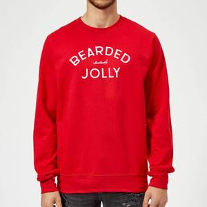 Bearded and Jolly Christmas Sweatshirt - Red