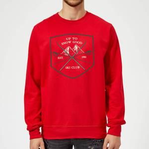 Up To Snow Good Christmas Sweatshirt - Red