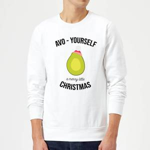 Avo-Yourself A Merry Little Christmas Christmas Sweatshirt - White
