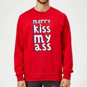 Merry KissMyAss Christmas Sweatshirt - Red