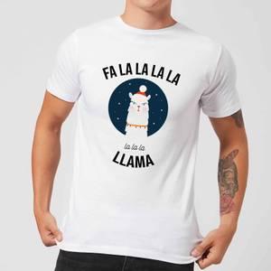 Fa La La La Llama Men's Christmas T-Shirt - White