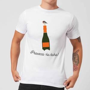 Prosecco-ho-ho Men's Christmas T-Shirt - White