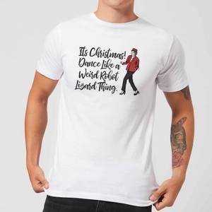 Its Christmas, Dance Like A Weird Robot Men's Christmas T-Shirt - White