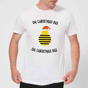 Oh Christmas Bee Oh Christmas Bee Men's Christmas T-Shirt - White