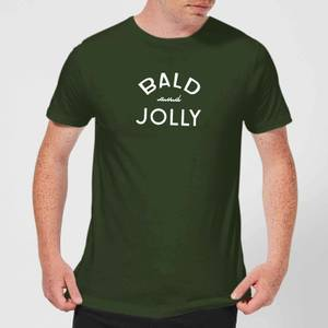 Bald and Jolly Men's Christmas T-Shirt - forest Green