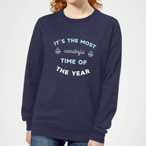 It's The Most Wonderful Time Of The Year Women's Christmas Sweatshirt - Navy