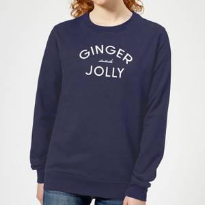 Ginger and Jolly Women's Christmas Sweatshirt - Navy