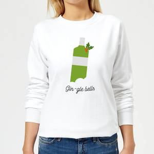 Gin-gle Bells Women's Christmas Sweatshirt - White