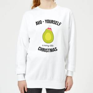 Avo-Yourself A Merry Little Christmas Women's Christmas Sweatshirt - White