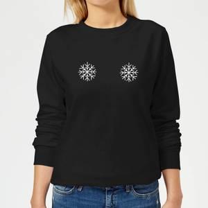 Snowflakes Women's Christmas Sweatshirt - Black