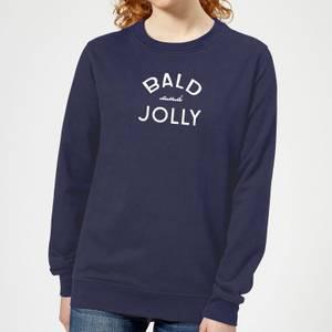 Bald and Jolly Women's Christmas Sweatshirt - Navy