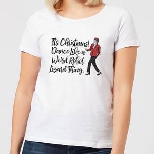 Its Christmas, Dance Like A Weird Robot Women's Christmas T-Shirt - White
