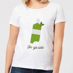 Gin-gle Bells Women's Christmas T-Shirt - White