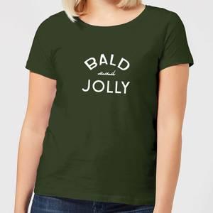 Bald and Jolly Women's Christmas T-Shirt - forest Green