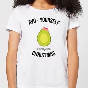 Avo-Yourself A Merry Little Christmas Women's Christmas T-Shirt - White