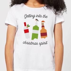 Getting Into The Christmas Spirit Women's Christmas T-Shirt - White