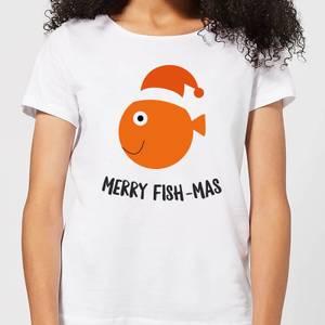 Merry Fish-Mas Women's Christmas T-Shirt - White