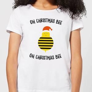 Oh Christmas Bee Oh Christmas Bee Women's Christmas T-Shirt - White