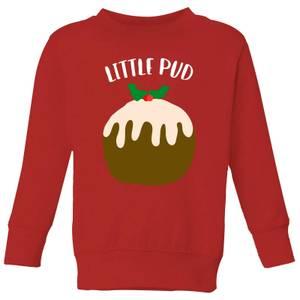 Little Pud Kids' Christmas Sweatshirt - Red