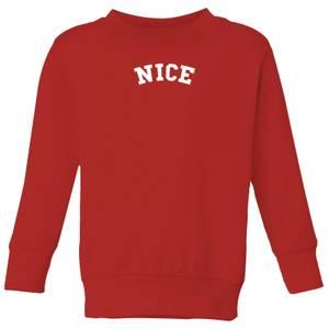 Nice Kids' Christmas Sweatshirt - Red