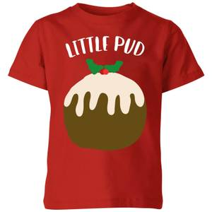 Little Pud Kids' Christmas T-Shirt - Red