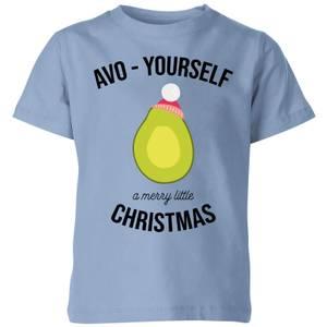 Avo-Yourself A Merry Little Christmas Kids' Christmas T-Shirt - Sky Blue
