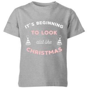 It's Beginning To Look A Lot Like Christmas Kids' Christmas T-Shirt - Grey