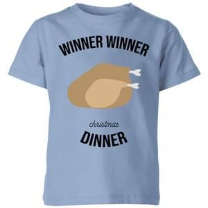 Winner Winner Christmas Dinner Kids' Christmas T-Shirt - Sky Blue