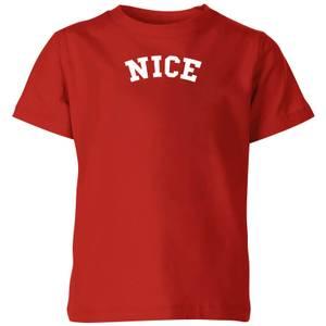 Nice Kids' Christmas T-Shirt - Red