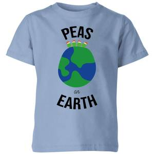 Peas On Earth Kids' Christmas T-Shirt - Sky Blue