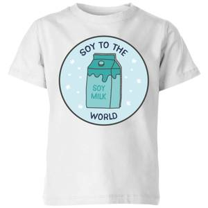 Soy To The World Kids' Christmas T-Shirt - White