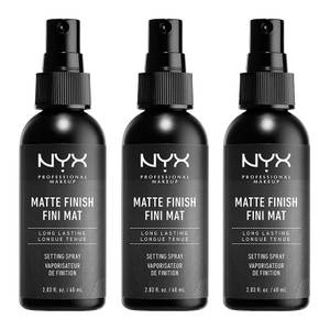 NYX Professional Makeup Matte Setting Spray x 3