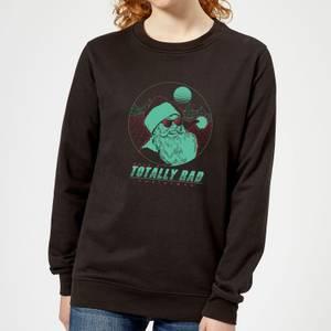 Totally Rad Christmas Women's Sweatshirt - Black