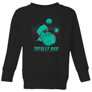 Totally Rad Christmas Kids' Sweatshirt - Black