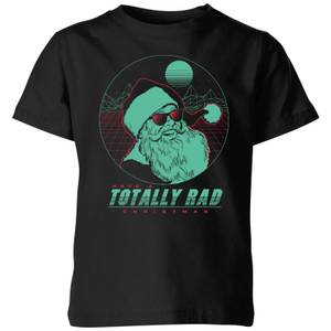 Totally Rad Christmas Kids' T-Shirt - Black