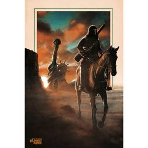 Planet of the Apes 50th Anniversary Fine art Giclee by Brendan Henry - Zavvi Exclusive Timed Edition