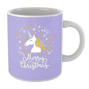 Unicorn Christmas Head Mug