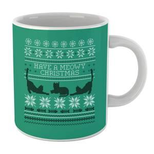 Meowy Christmas Mug