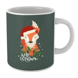 Christmas Fox Hello Christmas Mug