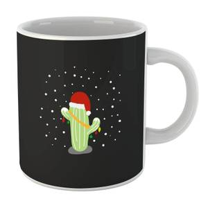 Cactus Santa Hat Mug