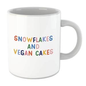 Snowflakes and Vegan Cakes Mug