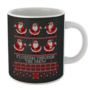 Flossing Through The Snow Mug