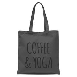 Coffee and Yoga Tote Bag - Grey
