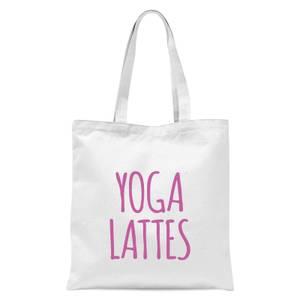 Yoga Lattes Tote Bag - White