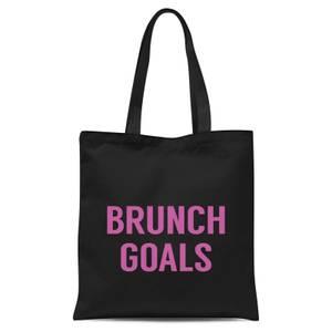 Brunch Goals Tote Bag - Black