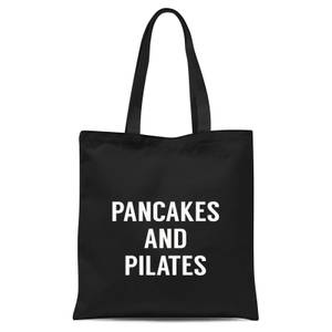 Pancakes and Pilates Tote Bag - Black