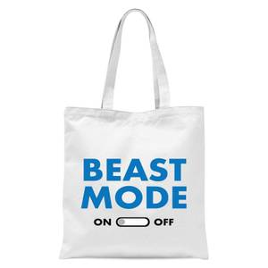 Beast Mode On Tote Bag - White