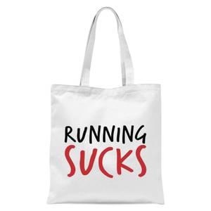 Running Sucks Tote Bag - White