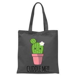 Cuddle Me Cactus Tote Bag - Grey
