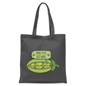 Makes Peas Not War Tote Bag - Grey